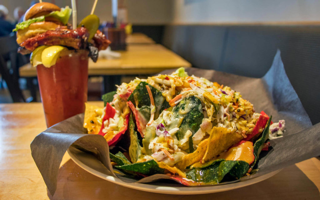 Caesar and Nachos from The Smoke Restaurant in Collingwood