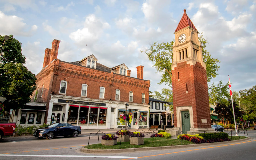 Clocktower and Building in Niagara-on-the-Lake