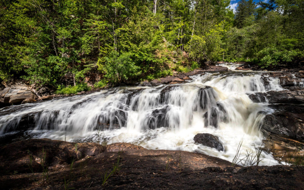 One of the Waterfalls at Egan Chutes Provincial Park