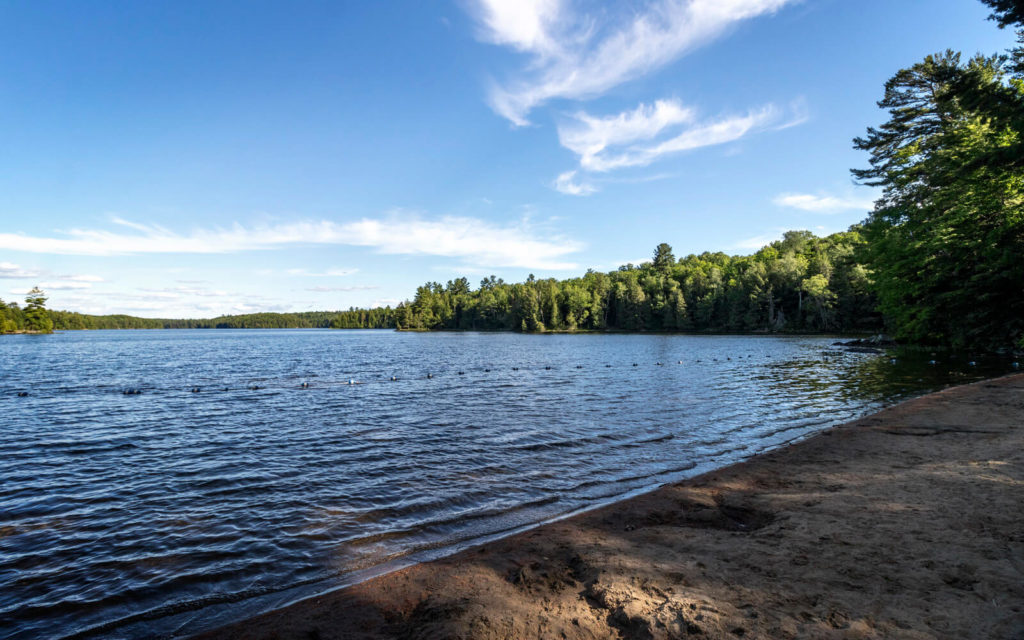 View from the Beach at Silent Lake Provincial Park